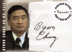Byron Chung as Mr. Paik Authentic Autograph